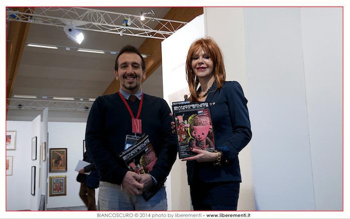 Vincenzo Chetta direttore di Biancoscuro con l'organizzatrice di ART Innsbruck Johanna Penz