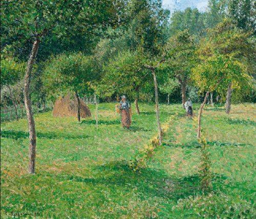Camille Pissarro Place du Theatre Francais , 1898 olio su tela 73 x 92 cm. National Museum of Belgrade