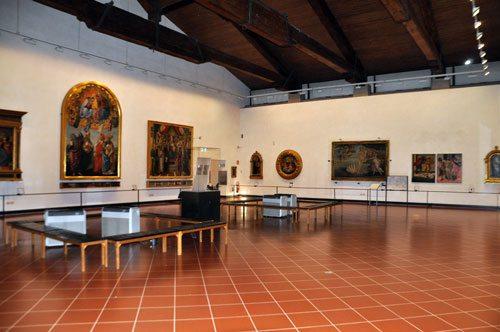 Uffizi-Sala-Botticelli-con-Venere biancoscuro art magazine