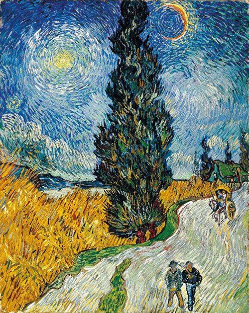 Van Gogh - Strada con cipresso e stella 1890, Kröller-Müller Museum