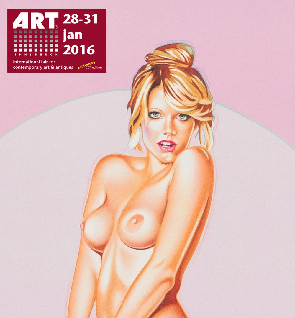 Miss Kiss (Mel Ramos), 2012, 80x59,7-cm, courtesy of Galerie-Rhomberg - Innsbruck - A