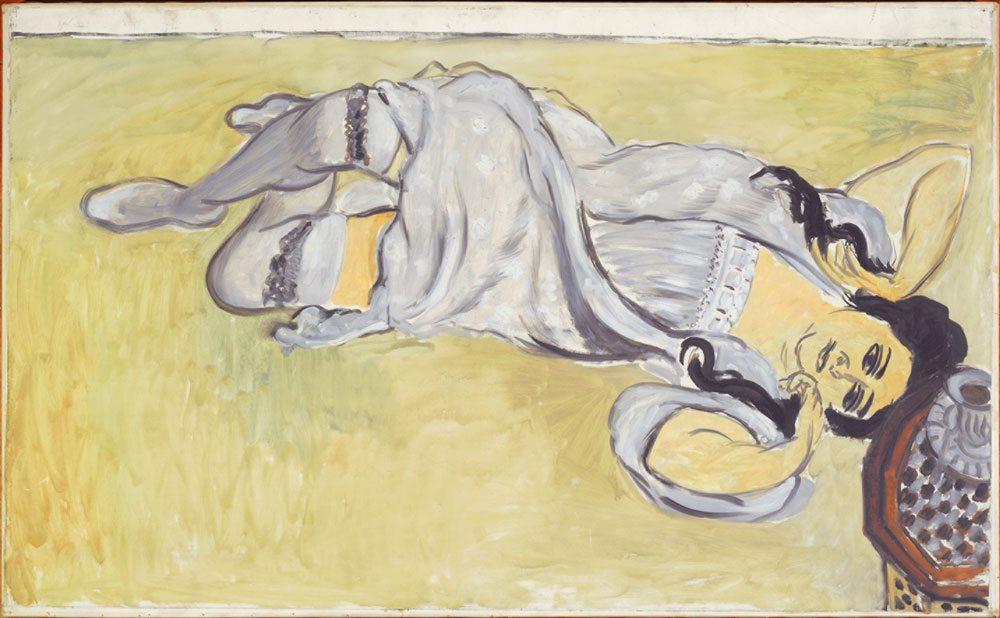 Henri Matisse - Lorette con tazza di caffè anno 1917, olio su tela, 91x148 cm. Collection Centre Pompidou, Paris Musée national d'art moderne - Centre de création industrielle - Photo : © Centre Pompidou, MNAMCCI/Philippe Migeat/Dist. RMN-GP © Succession H. Matisse by SIAE 2015