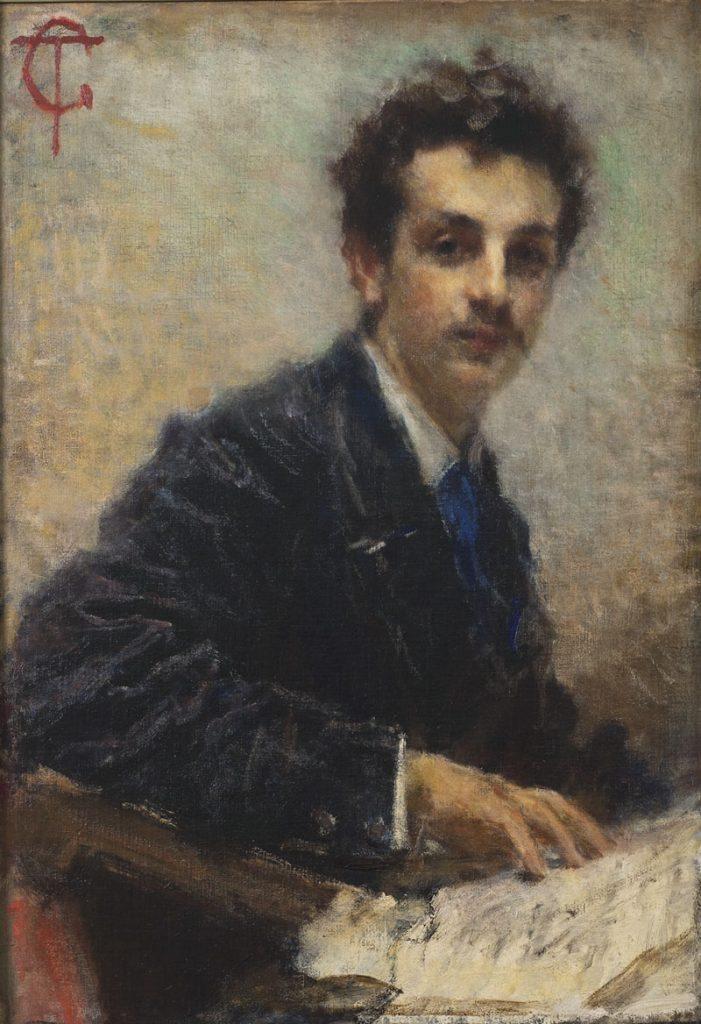 Tranquillo Cremona Ritratto di Benedetto Junck 1874 circa, olio su tela, 83x58 cm. GAM, Galleria Civica d'Arte Moderna e Contemporanea, Torino