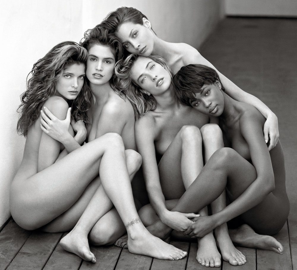 Stephanie, Cindy, Christy, Tatjana, Naomi, Hollywood 1989 © Herb Ritts Foundation