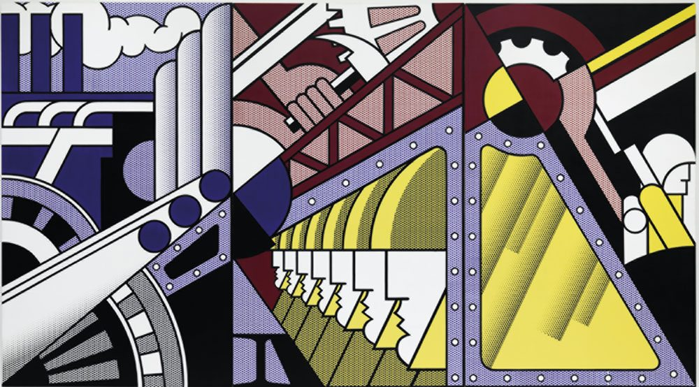 Roy Lichtenstein (New York 1923-1997) Preparativi (Preparedness) 1968, olio e acrilico Magna su tre tele, 304,8x548,6 cm.  New York, Solomon R. Guggenheim Museum, 69.1885. Foto di Kristopher McKay  © Estate of Roy Lichtenstein New York, by SIAE 2016
