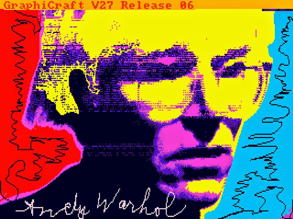 "Andy Warhol ""Autoritratto"" 1985 digital art"