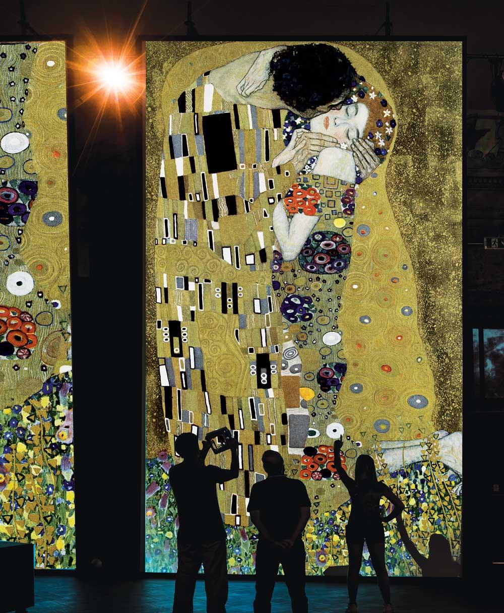G. Klimt - Il bacio, olio su tela, 1907-1908, Oesterreichische Galerie im Belvedere, Vienna.