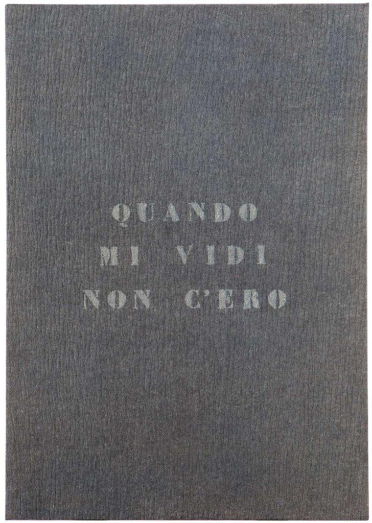 Vincenzo Agnetti - Autoritratto 1971, 120x80 cm. Courtesy Archivio Vincenzo Agnetti