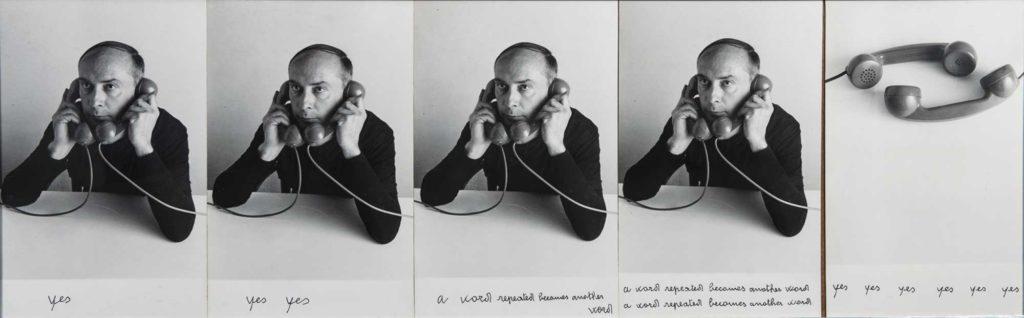 Vincenzo Agnetti - Autotelefonata (yes) 1972, 40x126 cm. Courtesy Collezione Emilio e Luisa Marinoni