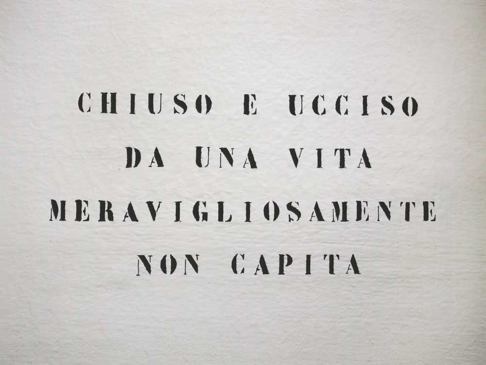 Vincenzo Agnetti - Ritratto di uomo. 1971, 75x100 cm. Courtesy Archivio Vincenzo Agnetti