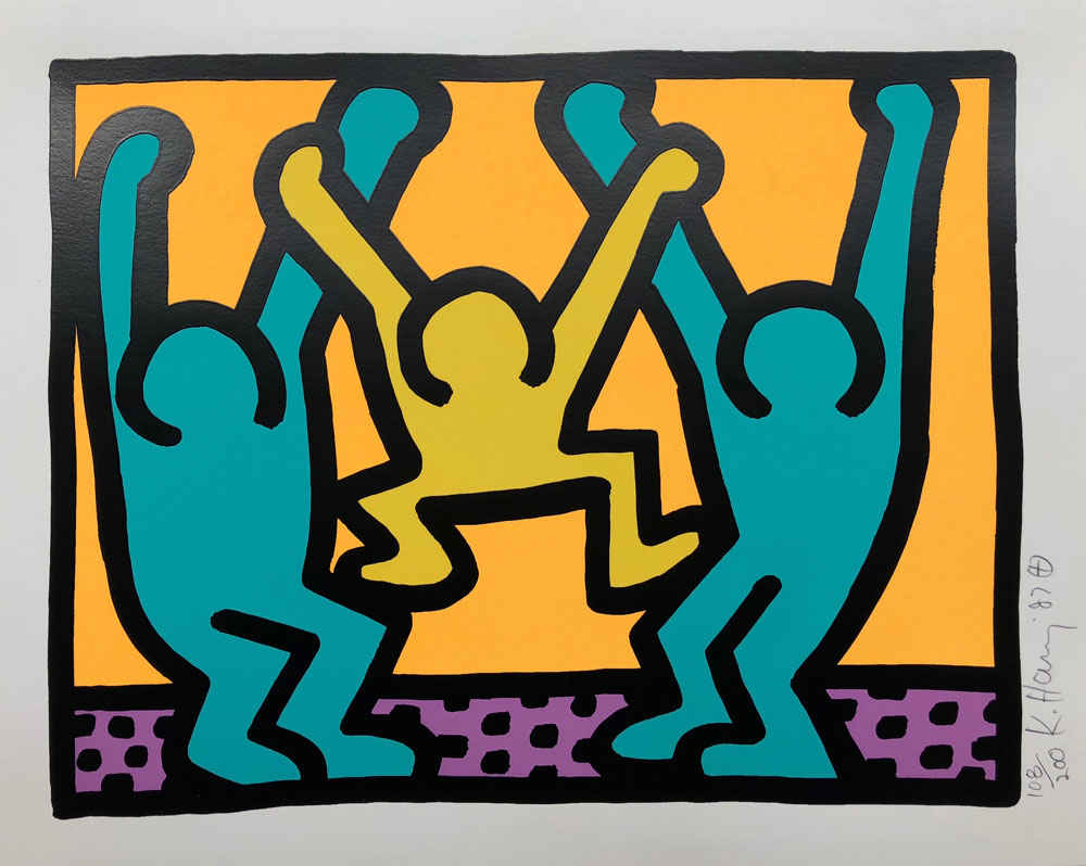 Keith Haring - Pop Shop I,1987 Courtesy of Galerie Haas & Gschwandtner
