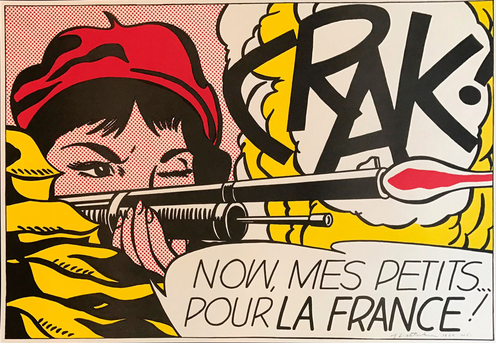 Roy Lichtenstein - Crak!, 1963-64 Courtesy of Galerie Haas & Gschwandtner